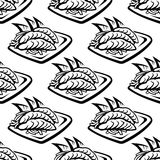 Japan food seamless pattern Stock Photo