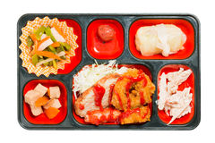 Japan Food set of chicken fritter and other in a box. Royalty Free Stock Photos