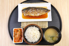 Japan food set fish Royalty Free Stock Photos