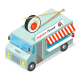 Japan Food Street Eatery in Isometric Projection Stock Images