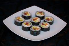 Japan food sushi. Close up view of japan food arrangement Stock Photos