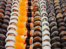 Japan food sushi. With rolls Stock Image