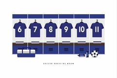 Japan Football or soccer team dressing room. Vector royalty free illustration