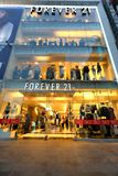 Japan: Forever 21 store. Forever 21 retail store at Harajuku Tokyo . Located in Omohara, the cross-section of Omotesando and Harajuku in Tokyo Stock Photos