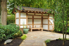 Japan garden construction Royalty Free Stock Images