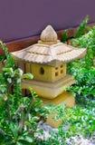 Japan garden lanterns Royalty Free Stock Images