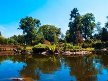 Japan garden, Wroclaw, Poland Royalty Free Stock Photo