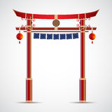 Japan gate culture. vector illustration isolated on white backgr Stock Images