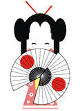 Japan geisha. Illustration of the shy japan geisha Royalty Free Stock Image