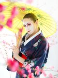 Japan geisha woman with creative make-up Stock Image