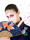 Japan geisha woman with creative make-up Stock Images
