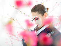 Japan geisha woman with creative make-up Stock Photo