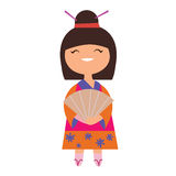 Japan girl character Stock Photo