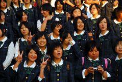 Japan girls school uniform Royalty Free Stock Photography