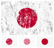 Japan grunge flag set Stock Images