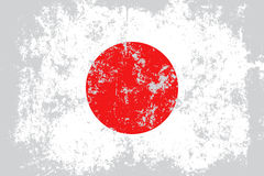 Japan grunge, old, scratched style flag Royalty Free Stock Photo