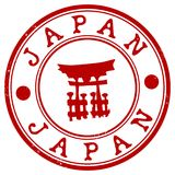 Japan grunge rubber stamp.  Royalty Free Stock Photography
