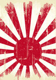 Japan grungeflagga stock illustrationer