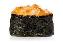 Japan gunkanmakisushi som bakas med isolerad ost Arkivbilder