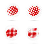Japan halftone flag set patriotic vector design. Stock Photo