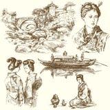 Japan - hand drawn set Stock Photo