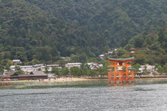 Japan: Het Heiligdom van Itsukushimashinto Stock Fotografie