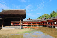 Japan: Het Heiligdom van Itsukushimashinto Stock Foto