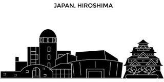 Japan, Hiroshima architecture vector city skyline, travel cityscape with landmarks, buildings, isolated sights on Stock Photos