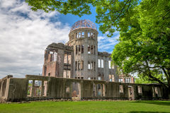 Japan Hiroshima Peace Dome and Park Royalty Free Stock Photo