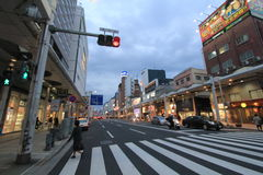 Japan Hiroshima street view. Street view in Hiroshima, Japan. Hiroshima is the capital of Hiroshima Prefecture and the largest city in the Chūgoku region of Stock Image