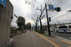 Japan Hiroshima street view. Royalty Free Stock Images