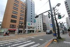 Japan Hiroshima street view. Royalty Free Stock Photo