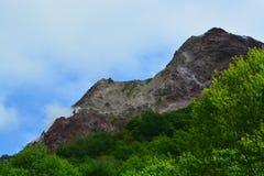 Japan Hokkaido Live Volcano. Mountain stock images