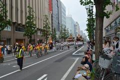 Japan Hokkaido Sapporo City Street Procession 2.  royalty free stock photos