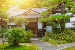 Japan Home garden zen style. Traditional Asian architecture stock photography