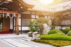 Japan Home garden zen style. Traditional Asian architecture stock photos