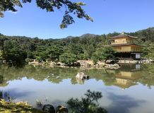 Japan, a house to pray at the pond. royalty free stock photo