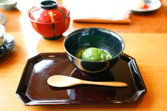 Japan ice cream green tea Stock Photography