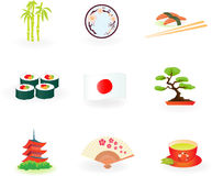 Japan Icons. Element for design  illustration Royalty Free Stock Image