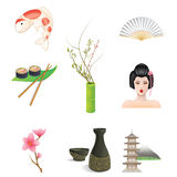 Japan Icons. Collection of Japan Icons isolated on white - Vector available Stock Images