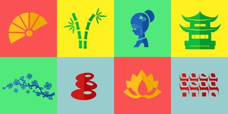The japan icons Royalty Free Stock Photography