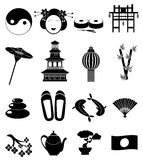Japan icons set Royalty Free Stock Photos