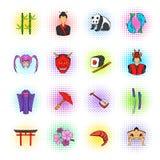 Japan icons set Stock Photography