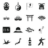 Japan icons set, simple style. Japan icons set in simple style. set collection vector illustration Stock Photo