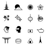Japan icons set vector illustration Royalty Free Stock Image