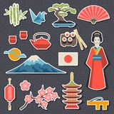 Japan icons and symbols set Stock Photography