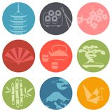 Japan icons and symbols set Stock Images