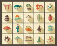 Japan icons Stock Image