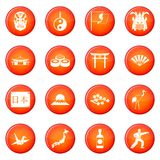 Japan icons vector set Stock Photos