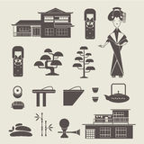 Japan icons Royalty Free Stock Images
